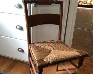 Rush bottom chairs (1 needs repaired
