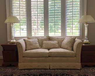 Upholstered Fabric Love Seat