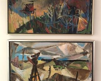 """Two Oils by """"KM"""", 1952"""
