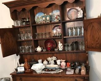Hutch and matching dining room table and cabinet