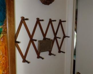 Expandable hat rack $35.00, wall basket $15.00