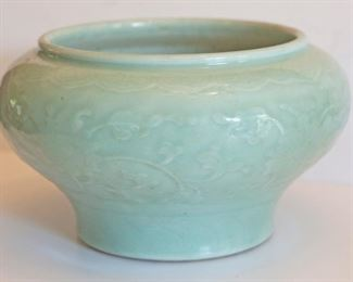 Celadon Bowl—9.5 x 5.5 in