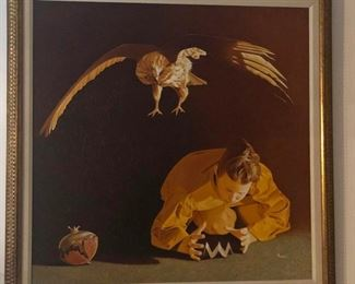 """Giuseppe Rocca """"Paper Dove 1"""" 33 x 33 in."""