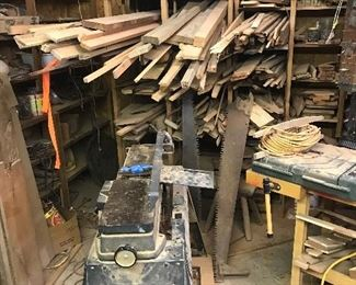 Everything out of this woodworking shop!!
