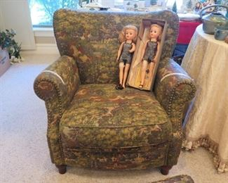 dolls and great easy chair