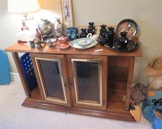 cabinet server & black glass