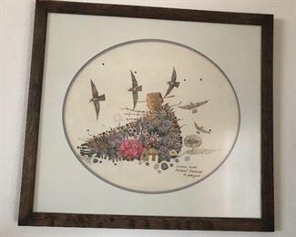 """""""Speak Your Secret Prairie"""" by Orlin Helgoe, Original drawn on Pellon from the Sangre de Cristo Art Center."""