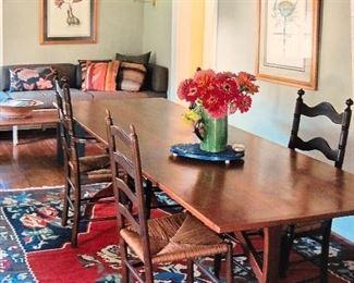 Custom handcrafted farm table by Arthur Hom