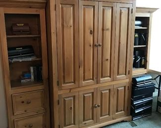 Custom-Made Wall Unit ~ 3 Sections