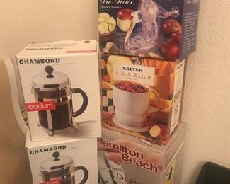 So many new boxed small appliances