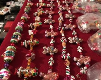 Radko garlands!  Lots to choose from!  All, still with tags!