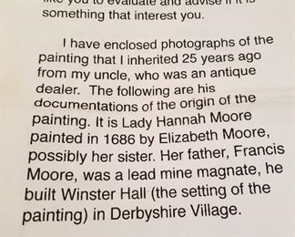 Painting by Elizabeth Moore 1686 information