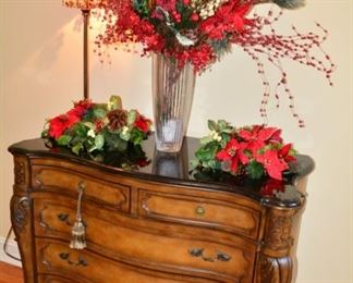 Marble Top 5 Drawer Chest