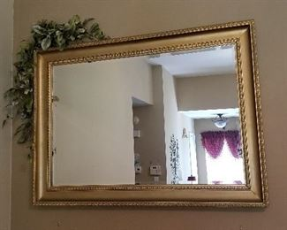 "Awesome Katrina rescued gold edged mirror.49.5""wide 2""deep 35.5"" tall."