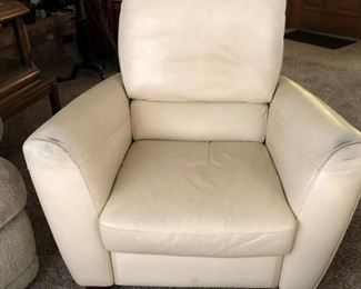 Leather Recliner x 2