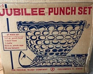 Jubilee Punch Set Federal Glass Co