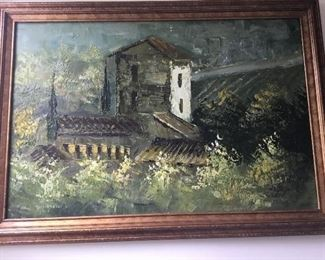 Unsigned vintage oil painting $250