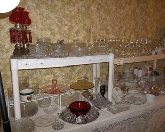 stemware, crystal, serving ware