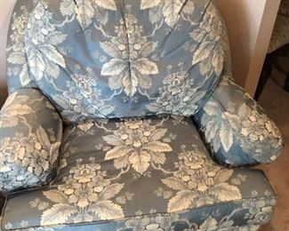 Pair of silk chairs