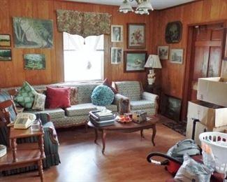 Living room furniture & art work