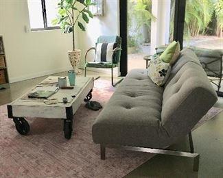 Split back modern gray sofa bed by innovative living