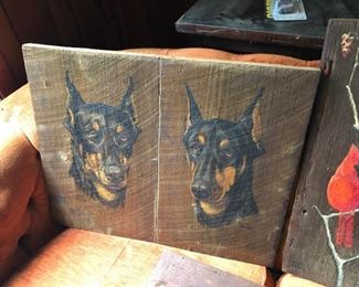 Dobermans by local artist