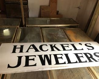 Hackel Jeweler's sign
