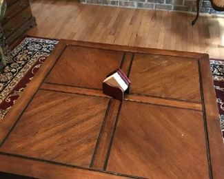 The LARGE coffee table.