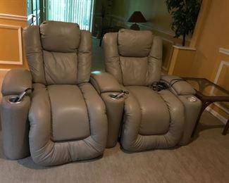 Berkline Leather Theater Movie Chairs