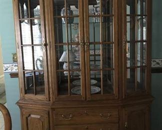 Thomasville Oak China Cabinet