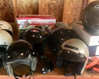 Various Motorcycle Helmits