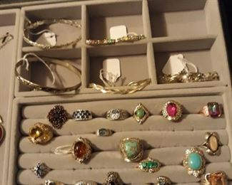 sterling rings and sterling bracelets