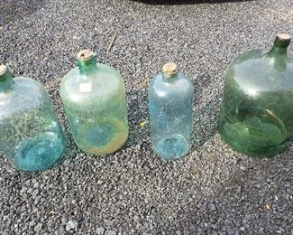 Large glass bottles