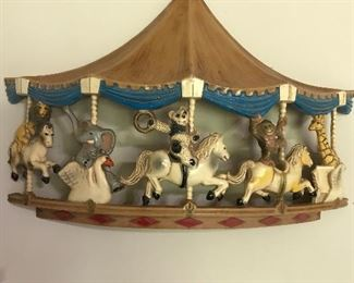 Decorative wall carousel