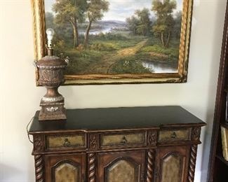 Beautiful large picture with consul table