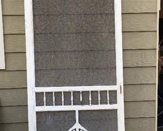 Vintage screened in door