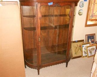 Antique Bow Front China Cabinet