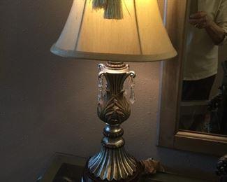 SILVER PATINA LAMP