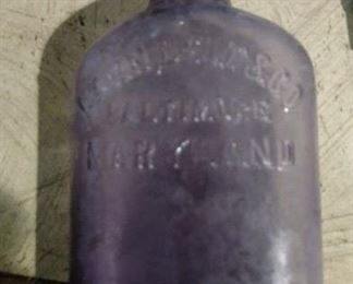 200+ old bottles     Lavender Color