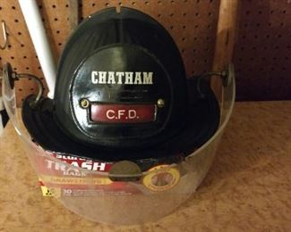 Vintage Fireman Helmet   Chatham, Cape Cod