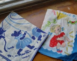 children's vintage hankes