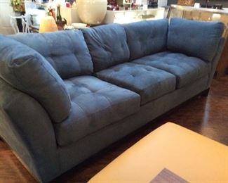 "RTG micro-suede 104"" sofa"