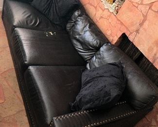 Leather couch needs little repair