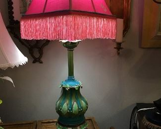 "Previously a Stiffel, now a Monet ""water lilies"" lamp because of serious corrosion.  Beautiful."