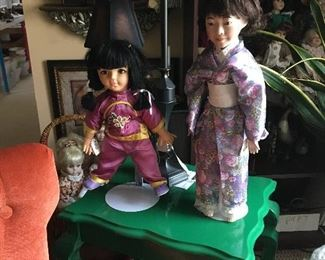 Chinese and Japanese dressed dolls.  Chinese actually made in china.  Other dolls available but not on display.
