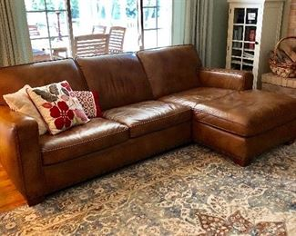 Matuzzi Italian leather sectional sofa. Rug is not for sale.