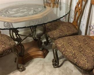 Glass top table & chairs  $200.00