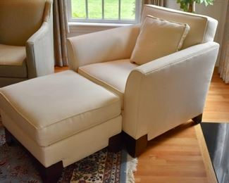 Rowe Furniture chair and ottoman