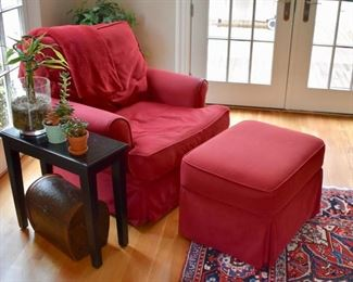 Swivel chair and matching ottoman