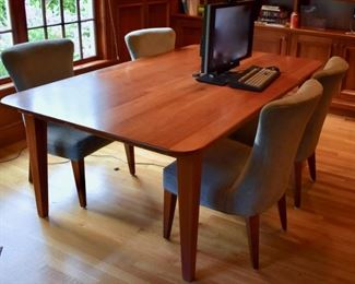 Custom built cherry desk table